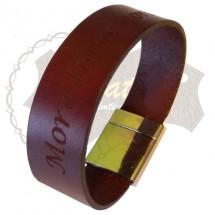 Bratara handmade din piele INSCRIPTIONAT1-M21