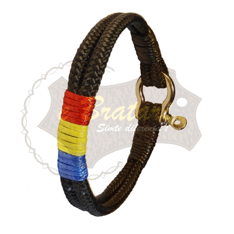 Bratara handmade din snur paracord TRICOLOR1-M68