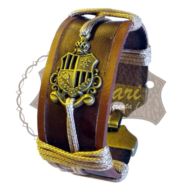 Bratara handmade din piele BLAZON1-M58