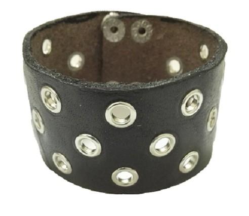 Bratara handmade din piele  rock STRONG4-M39