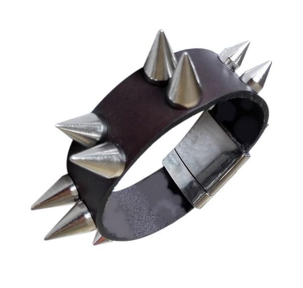 Bratara handmade din piele rock STRONG3-M40