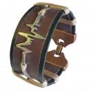 Bratara handmade din piele GLASUL INIMII-M73