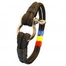Bratara handmade din snur paracord TRICOLOR1-M68-cri